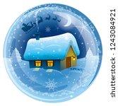 illustration of merry christmas ... | Shutterstock .eps vector #1243084921