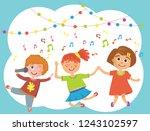 vector illustration of kids... | Shutterstock .eps vector #1243102597