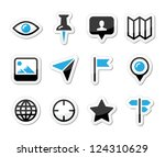 location map traveling icon set ... | Shutterstock .eps vector #124310629