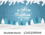 christmas and new year... | Shutterstock .eps vector #1243109044