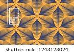 linear vector pattern ... | Shutterstock .eps vector #1243123024