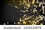 modern christmas tinsel...   Shutterstock .eps vector #1243124074