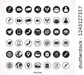 media and communication glyph ...