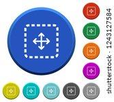 drag object round color beveled ... | Shutterstock .eps vector #1243127584