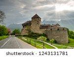 vaduz castle  alps ... | Shutterstock . vector #1243131781