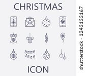 christmas icon set.vector... | Shutterstock .eps vector #1243133167