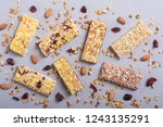 healthy homemade snacks...   Shutterstock . vector #1243135291