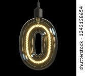 light bulb 3d font 3d rendering ... | Shutterstock . vector #1243138654