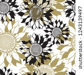 seamless pattern with... | Shutterstock .eps vector #1243139497