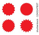 set of red retro blank... | Shutterstock .eps vector #1243147837