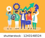 business growth and strategy... | Shutterstock .eps vector #1243148524