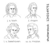famous composers set. portraits ...   Shutterstock .eps vector #1243149751