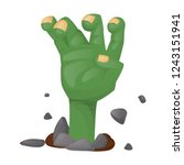 halloween party scary zombie... | Shutterstock .eps vector #1243151941