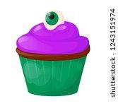 cupcake sweet cake birthday... | Shutterstock .eps vector #1243151974