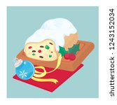 christmas fruit loaf | Shutterstock .eps vector #1243152034