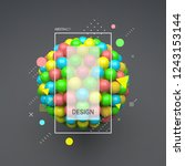 sphere. 3d vector template.... | Shutterstock .eps vector #1243153144
