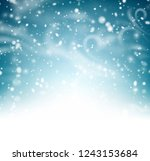 abstract shiny winter poster... | Shutterstock .eps vector #1243153684