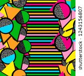 colorful seamless pattern from... | Shutterstock .eps vector #1243156807