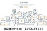 our team   modern line design... | Shutterstock .eps vector #1243156864