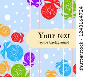 christmas balls  new year... | Shutterstock .eps vector #1243164724