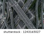 aerial view of highway and... | Shutterstock . vector #1243165027