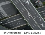 aerial view of highway and... | Shutterstock . vector #1243165267