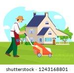 vector illustration of gardener ...   Shutterstock .eps vector #1243168801