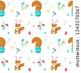 vector seamless pattern with... | Shutterstock .eps vector #1243170367