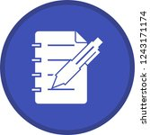 business note glyph round... | Shutterstock .eps vector #1243171174