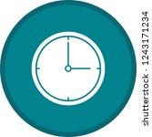 clock glyph round circle multi...   Shutterstock .eps vector #1243171234