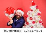 gift service concept. guy... | Shutterstock . vector #1243174801