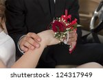 close up image of placing a red ...   Shutterstock . vector #124317949