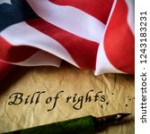 the text bill of rights written ... | Shutterstock . vector #1243183231