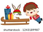 a vector of a cute and adorable ... | Shutterstock .eps vector #1243189987