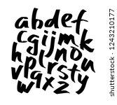 alphabet letters.black... | Shutterstock .eps vector #1243210177