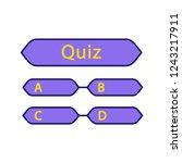 quiz question color icon.... | Shutterstock .eps vector #1243217911