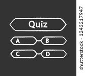 quiz question chalk icon.... | Shutterstock .eps vector #1243217947