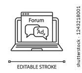advertising forum linear icon....   Shutterstock .eps vector #1243218001