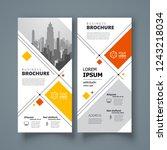 flyer set brochure design... | Shutterstock .eps vector #1243218034