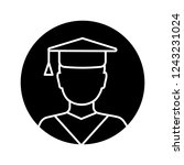 education glyph icon....   Shutterstock .eps vector #1243231024