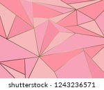abstract pink polygon artistic... | Shutterstock .eps vector #1243236571