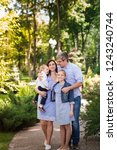 happy family with two kids... | Shutterstock . vector #1243240744