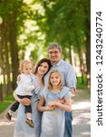 happy family with two kids... | Shutterstock . vector #1243240774