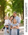 happy family with two kids... | Shutterstock . vector #1243240777
