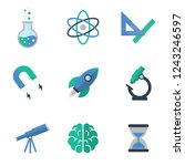 science vector icons | Shutterstock .eps vector #1243246597