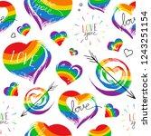 bright hand drawn seamless...   Shutterstock .eps vector #1243251154