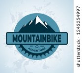 mountain bike gear  vintage and ... | Shutterstock .eps vector #1243254997