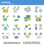 vector set of online shopping ...