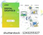 vector web site linear art...