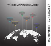 world map vector  infographic... | Shutterstock .eps vector #1243262617